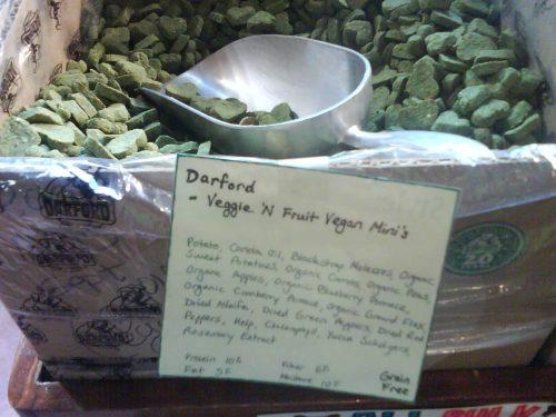 Vegan dog food.